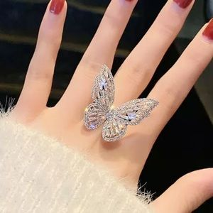 CZ Butterfly Ring